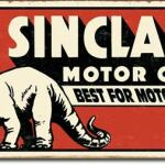 SINCLAIR MOTOR OIL TIN SIGN