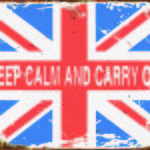 BRITISH TIN SIGN KEEP CALM AND CARRY ON