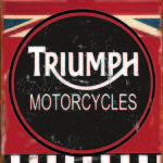 TRIUMPH MOTORCYCLES RETRO TIN SIGN
