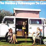 VW TIN SIGN DANBURY DELUXE CAMPER VAN.