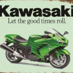 KAWASAKI MOTORCYCLE TIN SIGN