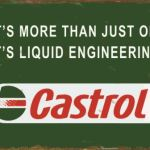 CASTROL REPRODUCTION TIN SIGN