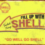SHELL RETRO TIN SIGN