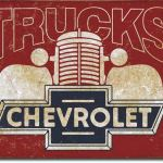 CHEVY TRUCK TIN SIGN