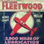 TIN SIGN AVIATION FLEETWOOD MOTOR OIL