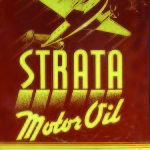 RETRO STRATA MOTOR OIL TIN SIGN