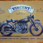 VINCENT MOTORCYCLE RETRO TIN SIGN