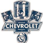 CHEVROLET PRESSED TIN SIGN