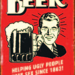 BEER MAN TIN SIGN