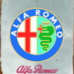 ALFA ROMEO TIN SIGN