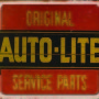 ORIGINAL AUTOLITE SERVICE PARTS TIN SIGN