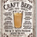 BREW IT WITH PASSION, CRAFT BEER TIN SIGN