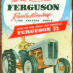 FERGUSON REVOLUTIONARY RETRO TIN SIGN