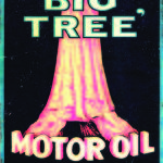 BIG TREE BLACK MOTOR OIL TIN SIGN