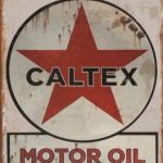 RETRO TIN SIGN CALTEX MOTOR OIL