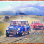 RACING MINI'S TIN SIGN
