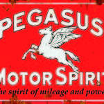 AMERICAN PEGASUS MOTOR SPIRIT TIN SIGN