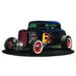 DEUCE COUPE FORD 1932 TIN SIGN