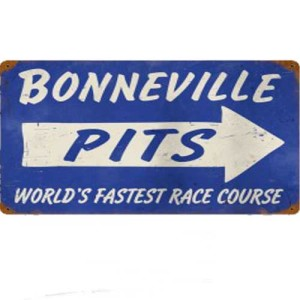 BONNEVILLE PITS TIN SIGN