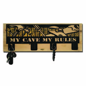KEY HOLDER MY CAVE MY RULES.