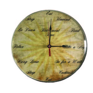 METAL CLOCK FOR RETIREMENT