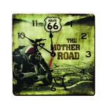 ROUTE 66 RETRO CLOCK
