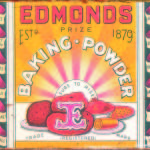 SMALL RETRO TIN SIGN EDMONDS BAKING POWDER LABEL