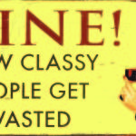 RETRO WINE TIN SIGN SMALL