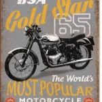 BSA 1965 GOLDSTAR Tin Sign