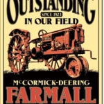 Farmall McCormick Deering Vintage Tractor Tin Sign