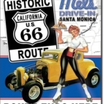 MEL'S DINER - Drive In Santa Monica - Route 66  Tin Sign