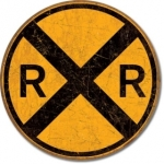 Railroad Crossing (round)