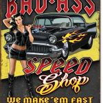 SPEED SHOP TIN SIGN