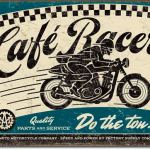 CAFE RACER MOTORCYLE TIN SIGN