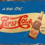 PEPSI COLA RETRO TIN SIGN