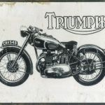 Triumph Motorcycle Tin Sign.  Measures 405mm x 320mm