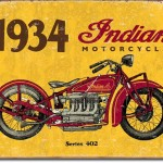SERIES 402 1934 INDIAN MOTORCYCLE RETRO TIN SIGN