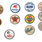 RETRO ROUND TIN MAGNETS PLEASE CHOOSE WHICH ONE YOU WANT.